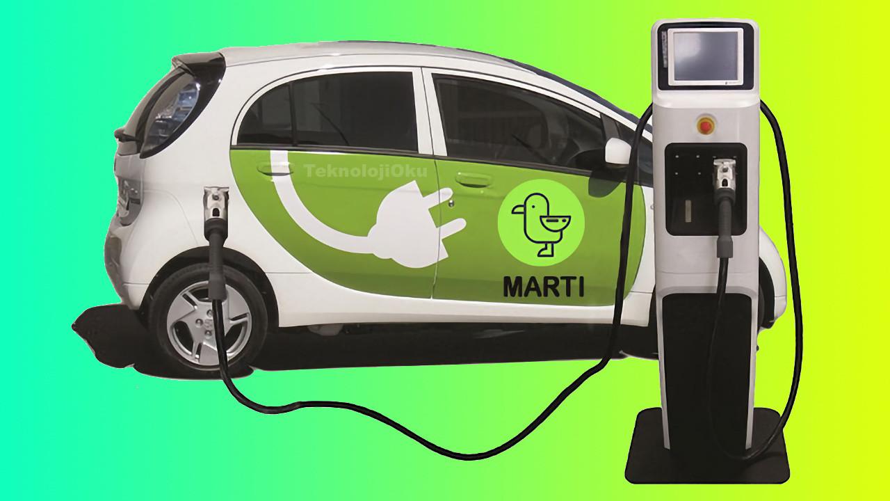 Martı elektrikli araç işine girdi! Elon Musk bak işine!