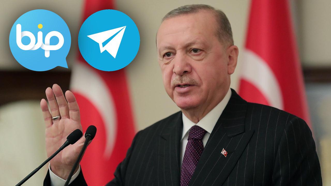 Recep Tayyip Erdoğan Telegram ve BiP'e katıldı