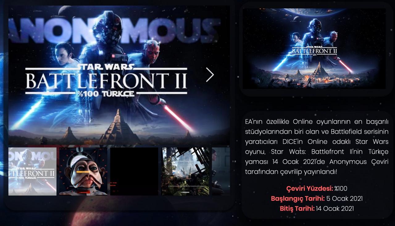 Star Wars Battlefront II için Türkçe yama
