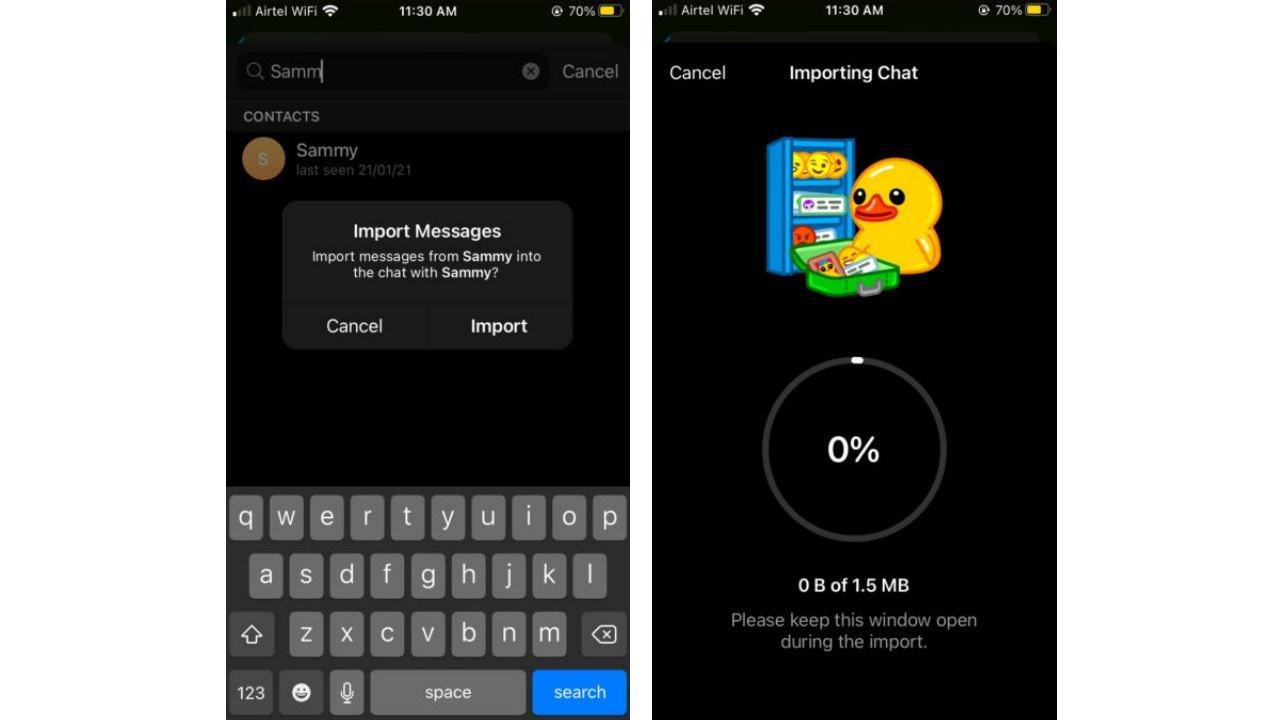 WhatsApp sohbetlerini Telegram'a aktarma