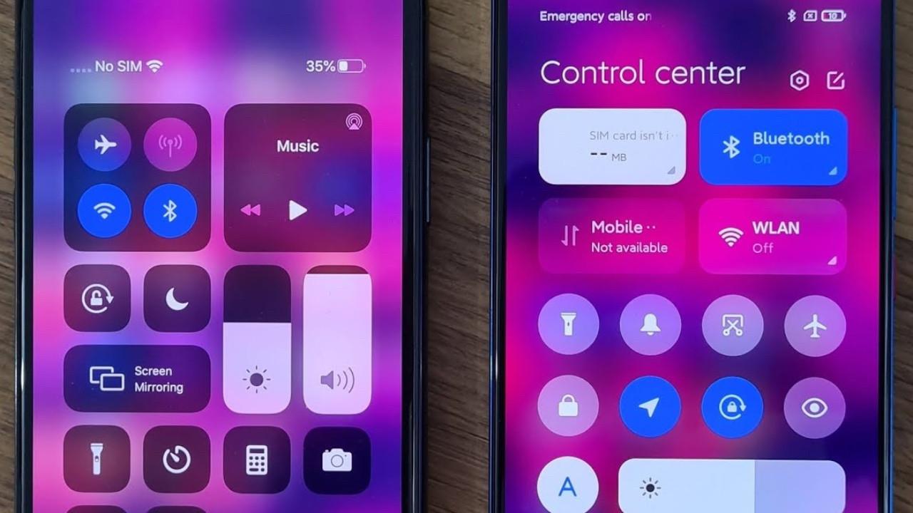 MIUI 12.5 kontrol merkezi iOS 14'e benzerliği ile dikkat çekiyor