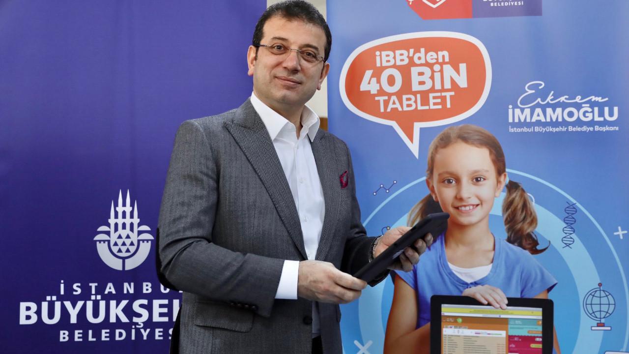 İmamoğlu müjdeledi! İstanbul'da öğrencilere bedava tablet dağıtılacak!