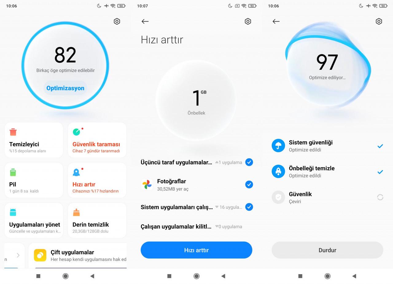 Xiaomi telefonları hızlandırma yöntemleri