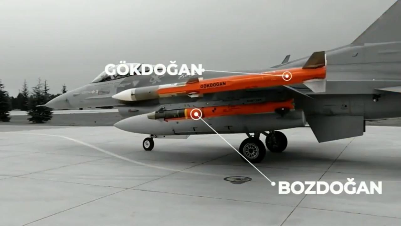 Yerli füzemiz Bozdoğan, ilk atışta hedefi tam isabetle vurdu! - Video
