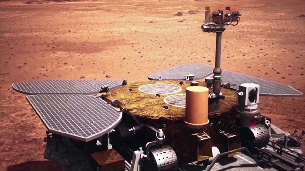 Çin Mars yüzeyinden ilk görselini yayınladı!