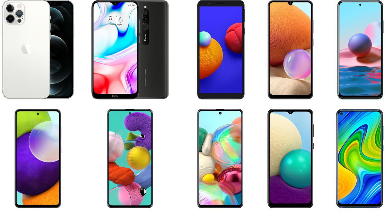 2021'de en çok satılan telefonlar!