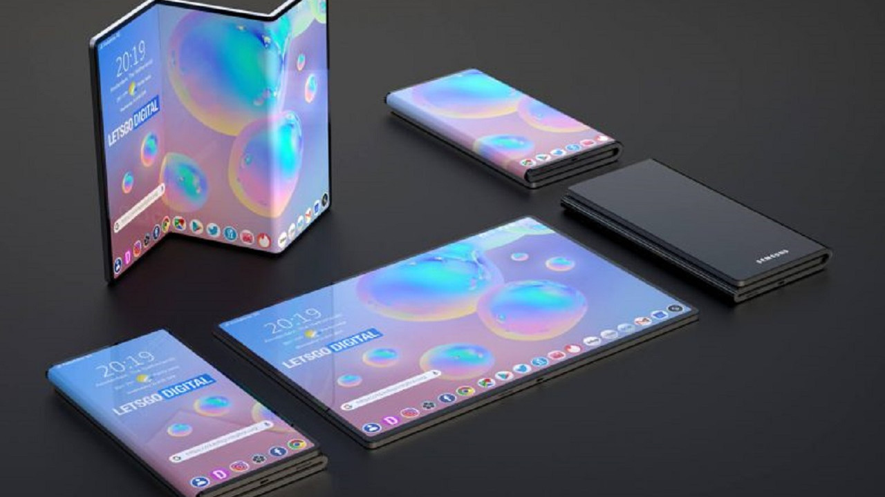 Samsung'dan üçe katlanabilir telefon patenti!