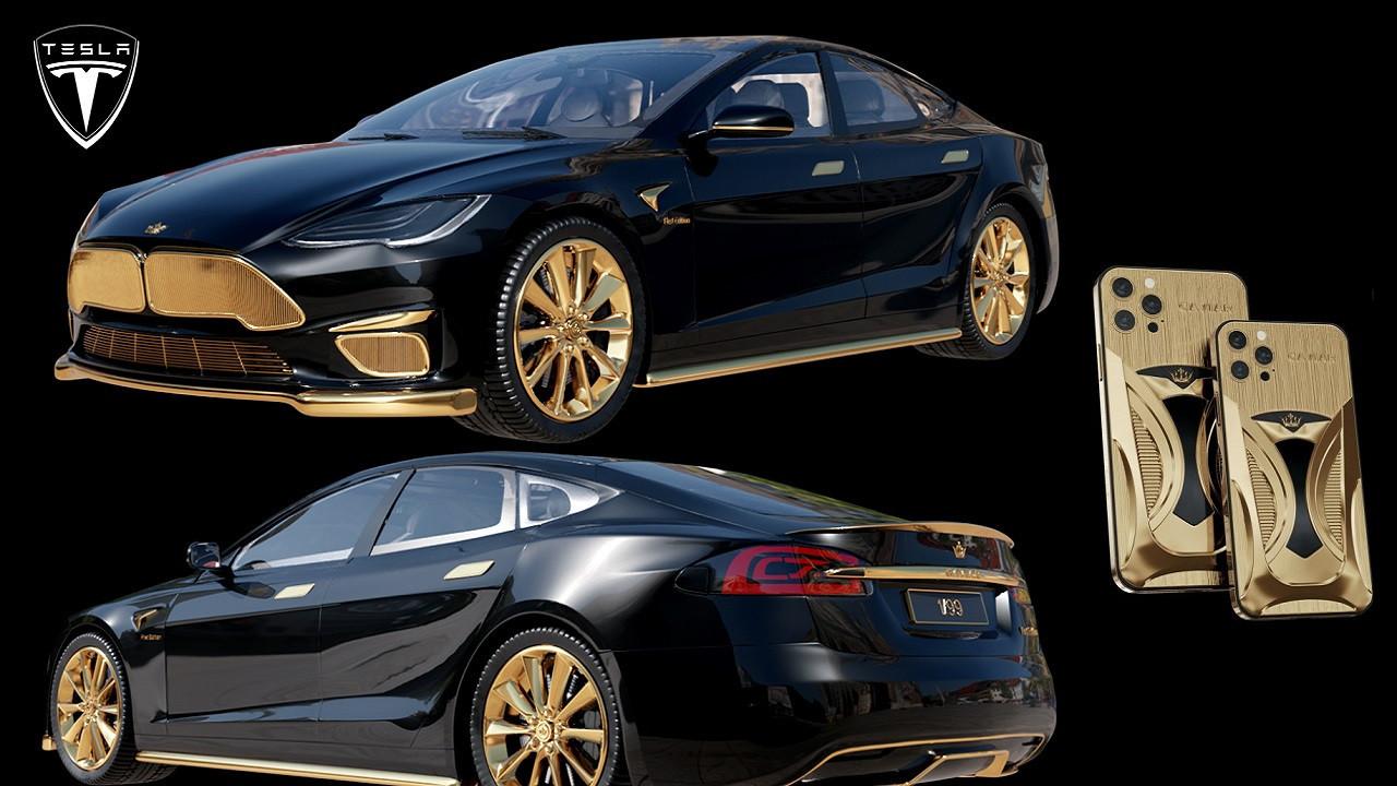 Tesla Model S ve iPhone 12 Pro LE özel tasarımla buluştu!