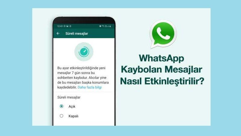 WhatsApp kaybolan mesajlar nasıl etkinleştirilir? - Page 1