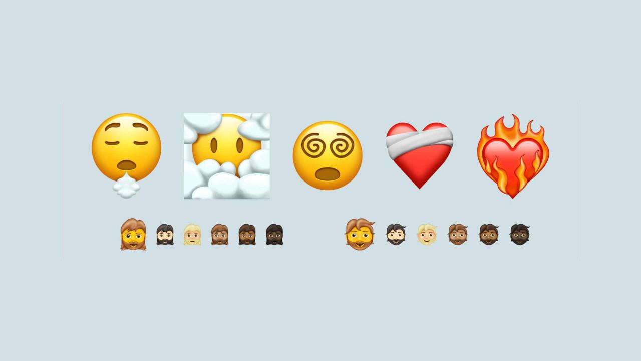 emojipedia 217 new emojis 2021 head Bmth cover