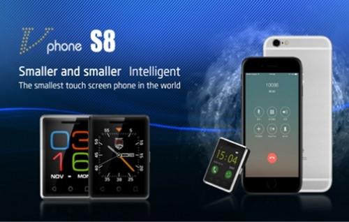 Dünyanın en küçük akıllı telefonu Vphone S8!