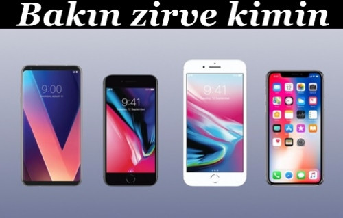 LG V30, iPhone 8, iPhone 8 Plus ve iPhone X karşı karşıya