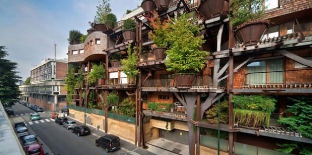 150 ağaçla muhteşem bir bina yaptı - Page 2