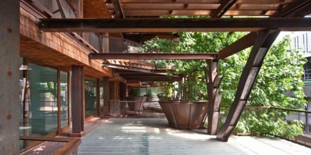 150 ağaçla muhteşem bir bina yaptı - Page 4