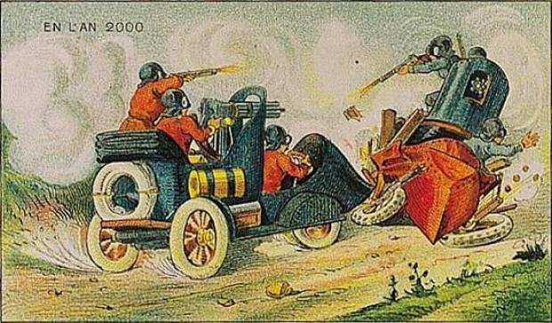 1910 Yılında yapılan 16 çizimle 2000 yılının tahmini - Page 1