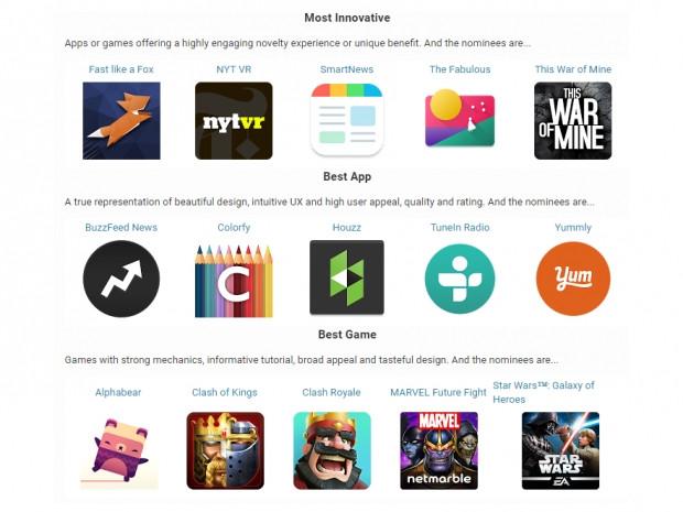 2016 Google Play ödülleri adayları - Page 1