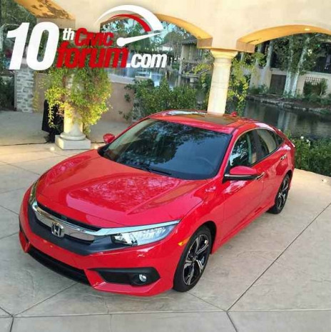 2016 Honda Civic kırmızı gövde ile görüntülendi - Page 3