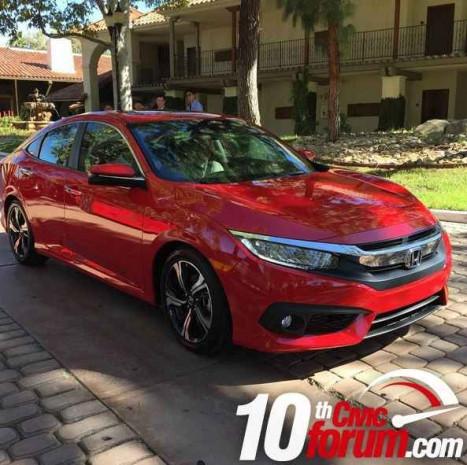 2016 Honda Civic kırmızı gövde ile görüntülendi - Page 4