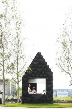 Amsterdam'da 3D baskılı minik ev sergileniyor - Page 1