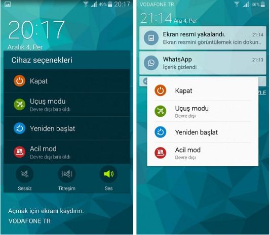 Android 4.4.2 ve Android 5.0 Yüklü Galaxy S5 karşılaştırması - Page 1