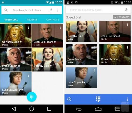 Android L ve Android KitKat ekran karşılaştırması - Page 2