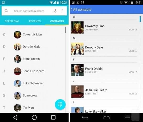 Android L ve Android KitKat ekran karşılaştırması - Page 3