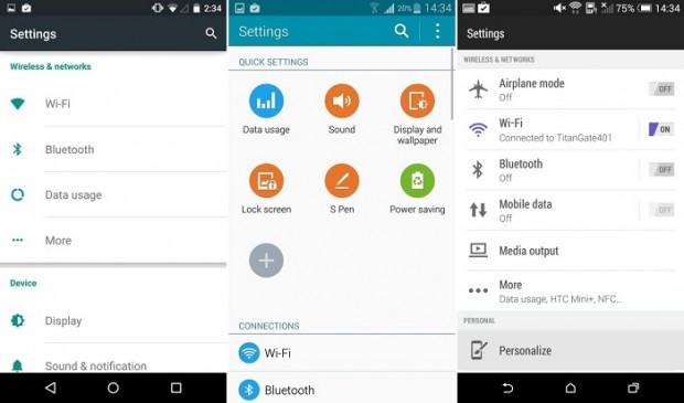 Android Lollipop-TouchWiz-Sense-LG ve Xperia arayüz karşılaştırması (Bölüm-1) - Page 1