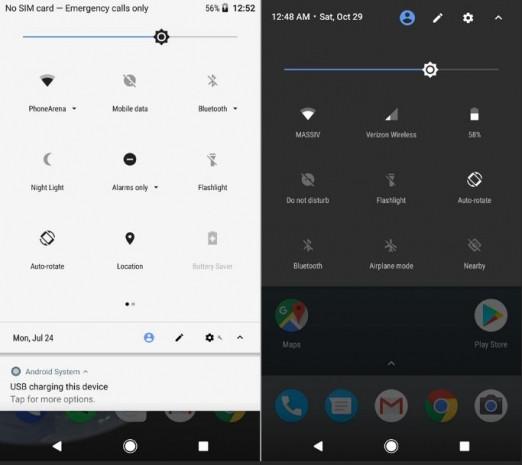 Android Oreo ve Android Nougat ekrtan karşılaştırma - Page 1