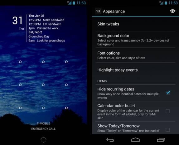 Android telefonlar için en iyi 20 Widget - Page 1