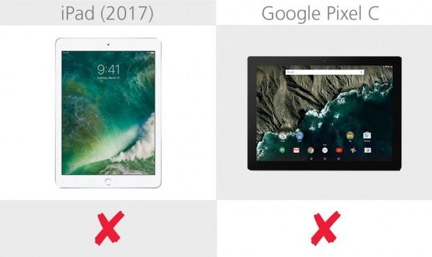 Apple iPad 2017 ve Google Pixel C karşılaştırma - Page 1