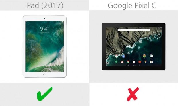 Apple iPad 2017 ve Google Pixel C karşılaştırma - Page 3