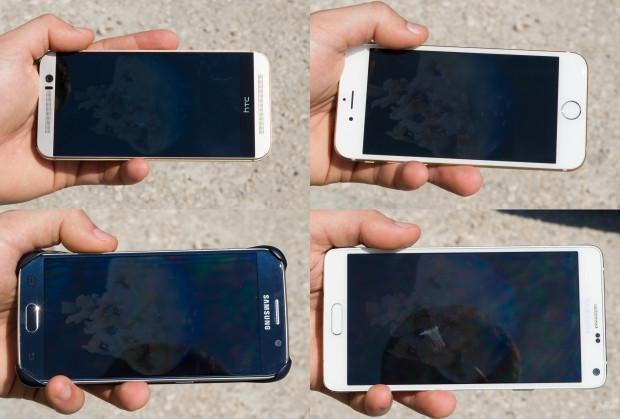 iPhone 6, Galaxy S6, HTC One M9 ve Note 4'ün gün ışında ekran görüntüsü - Page 2