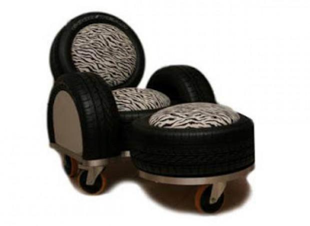 Araba lastikleriyle yapılan ilginç tasarımlar - Page 4