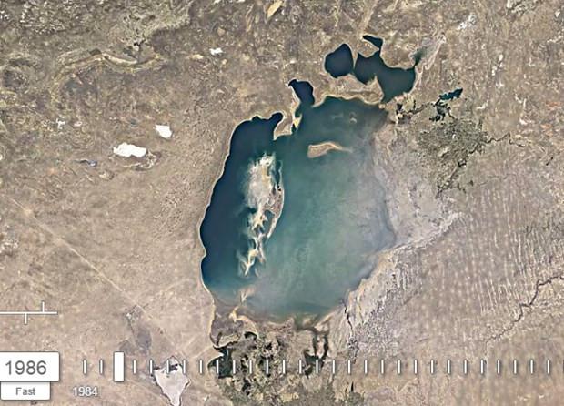 Aral Gölü'nün 32 yıllık değişimi - Page 1
