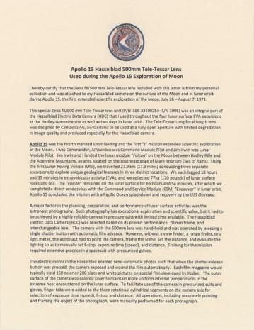 Ay'da kullanılan ilk kamera açık arttırmayla satılıyor! - Page 2