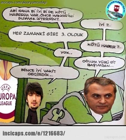 Beşiktaş elendi capsler patladı - Page 1