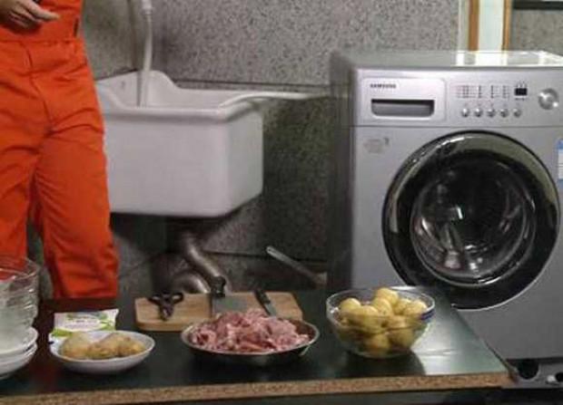 Çamaşır makinesinde yemek yapıyor! - Page 1