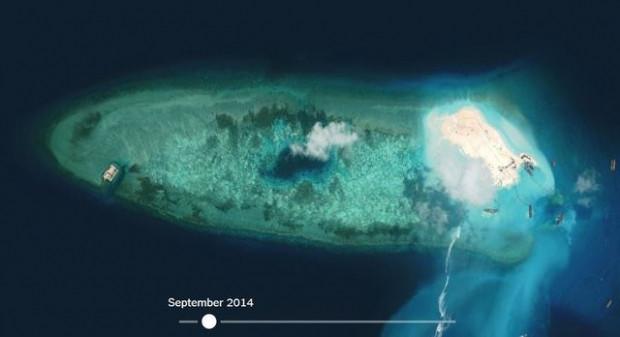 Çin'in 'yapay adası' uzaydan görüntülendi - Page 1