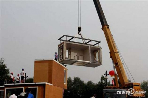 Çinliler 3 saatte ev inşa ettiler - Page 1