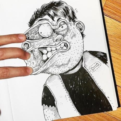 Çizdiği karakterlere resmen işkence eden ressamın birbirinden eğlenceli 7 çalışması - Page 1