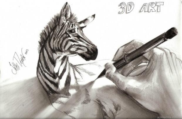 Çizildiğine inanması çok güç 3D karakalem resimlerinden 21 örnek - Page 1