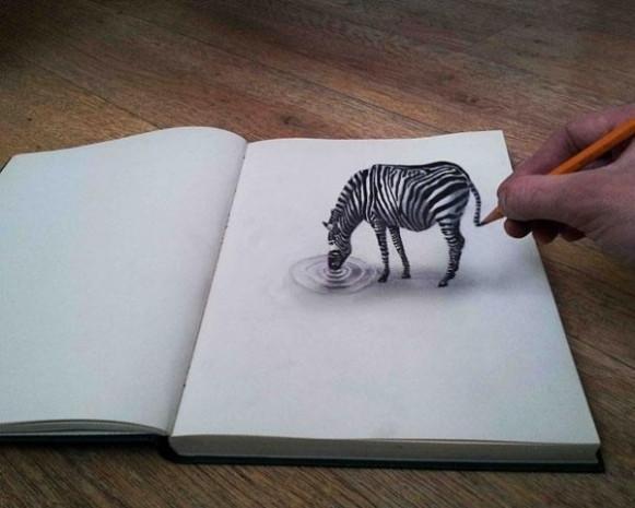 Çizildiğine inanması çok güç 3D karakalem resimlerinden 21 örnek - Page 4