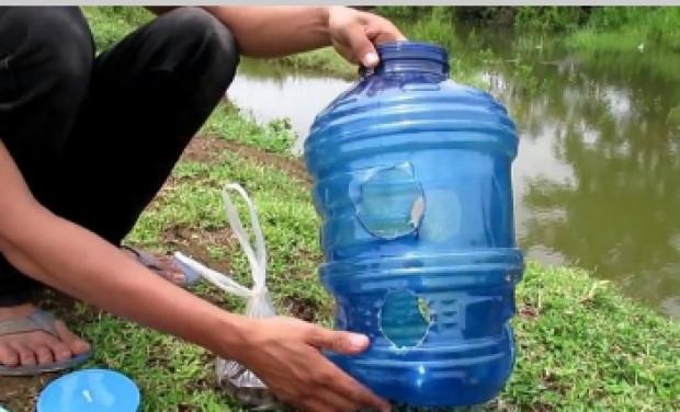 Damacana, su borusu ve pet şişe kullanarak balık avladı - Page 3