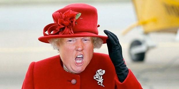 Donald Trump İngiltere Kraliçesi Elizabeth'e dönüştü - Page 2