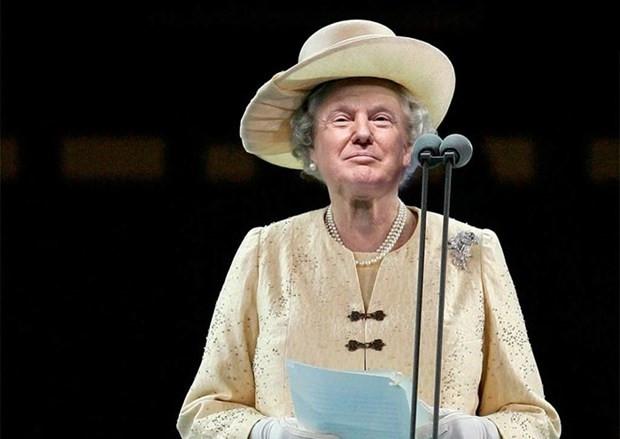 Donald Trump İngiltere Kraliçesi Elizabeth'e dönüştü - Page 4