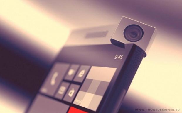 Döner kameralı  Windows Phone telefon konsepti: Spinner - Page 1