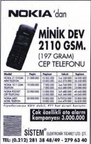 Dudaklarda alaycı bir tebessüm bırakan eski cep telefonu reklamları - Page 1