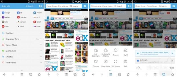 En iyi Android tarayıcıların  tasarımı, özellikleri ve performansı - Page 3