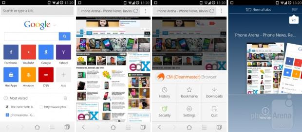 En iyi Android tarayıcıların  tasarımı, özellikleri ve performansı - Page 4