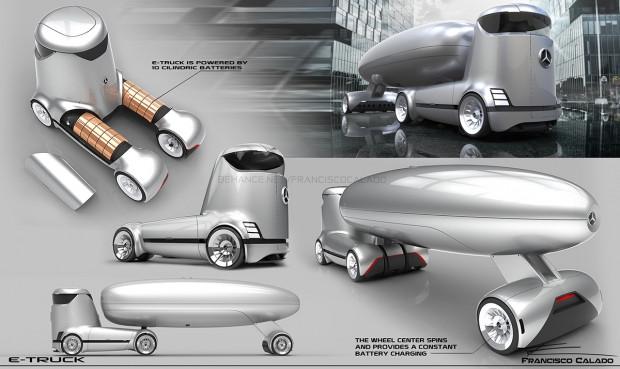 Ezber bozan Mercedes-Benz E-truck konsepti - Page 2